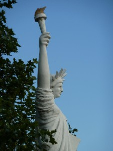The Grinning Liberty Statue