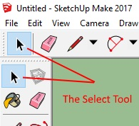 The Select Tool - Top Right of screen